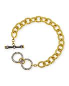 Freida Rothman Signature Two-Tone Toggle Chain Bracelet