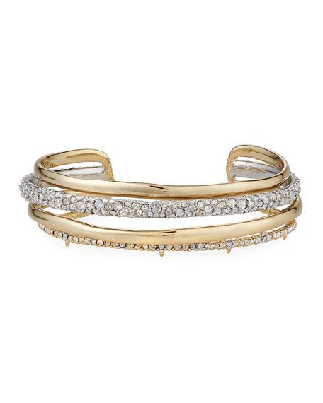 Alexis Bittar Crystal Encrusted Orbiting Cuff Bracelet