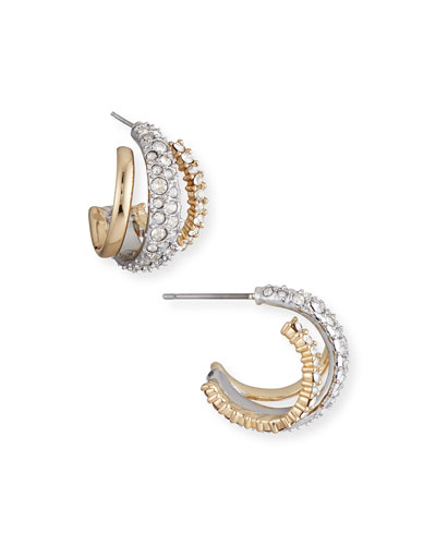 Crystal Encrusted Orbiting Stud Earrings