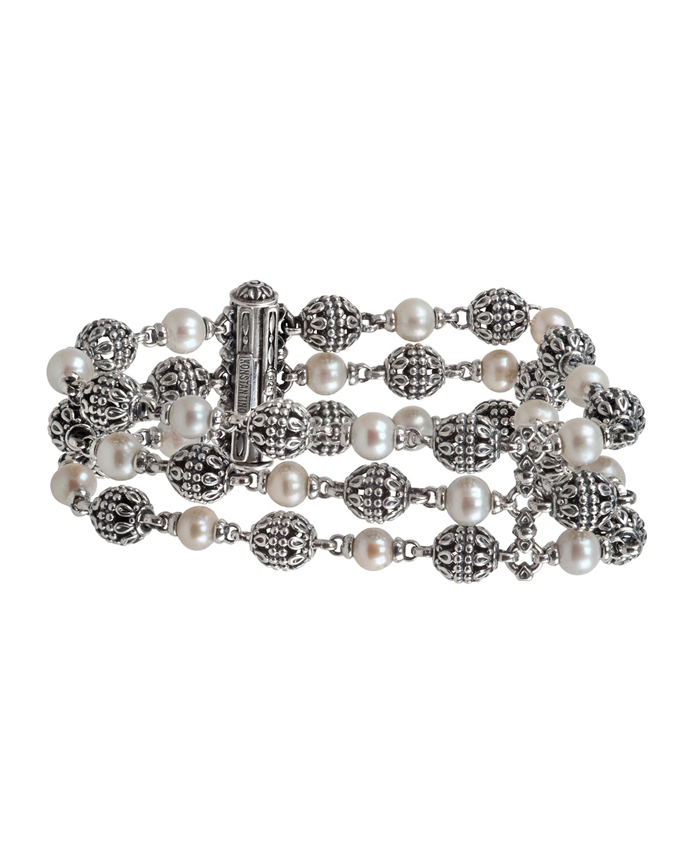 Kleos 3-Row Pearl Bracelet