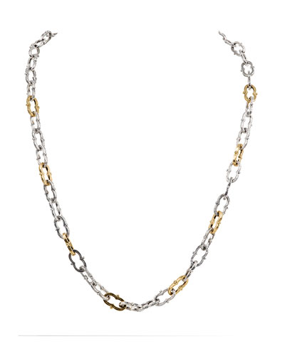 Kleos Silver Figure 8-Link Necklace w/ 18k Gold