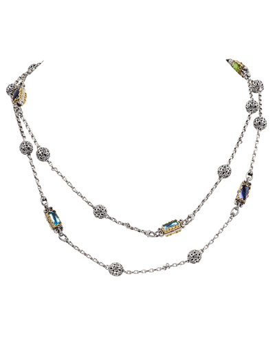 Kleos Mixed-Stone Station Long Necklace
