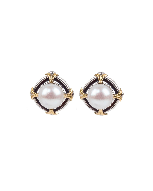 Kleos 7.5-8mm Pearl-Post Earrings