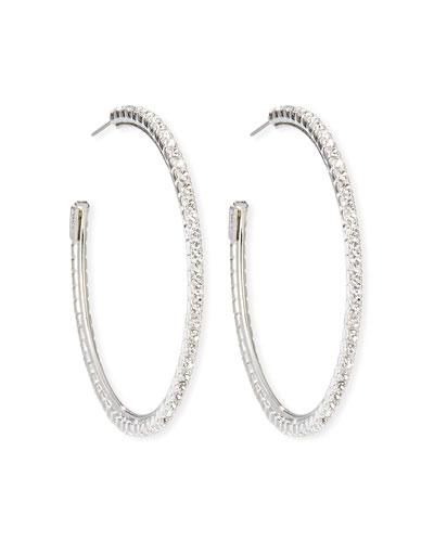 Small Crystal Hoop Earrings