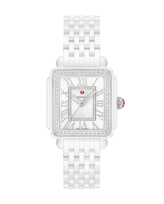 16 Deco Madison Ceramic Diamond Watch