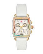 MICHELE Deco Carousel Diamond Silicone Watch