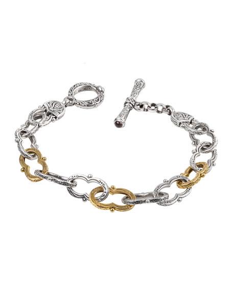 Konstantino Kleos Silver Figure 8-Link Bracelet w/ 18k Gold