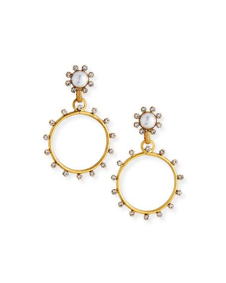 Elizabeth Cole Tyler Hoop-Drop Earrings