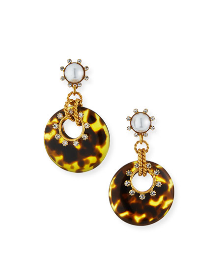 Elizabeth Cole Krieger Hoop-Drop Earrings