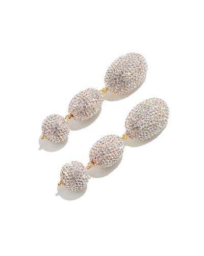 Crystal Bubble-Drop Earrings