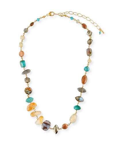 Citrine-Mix Short Necklace