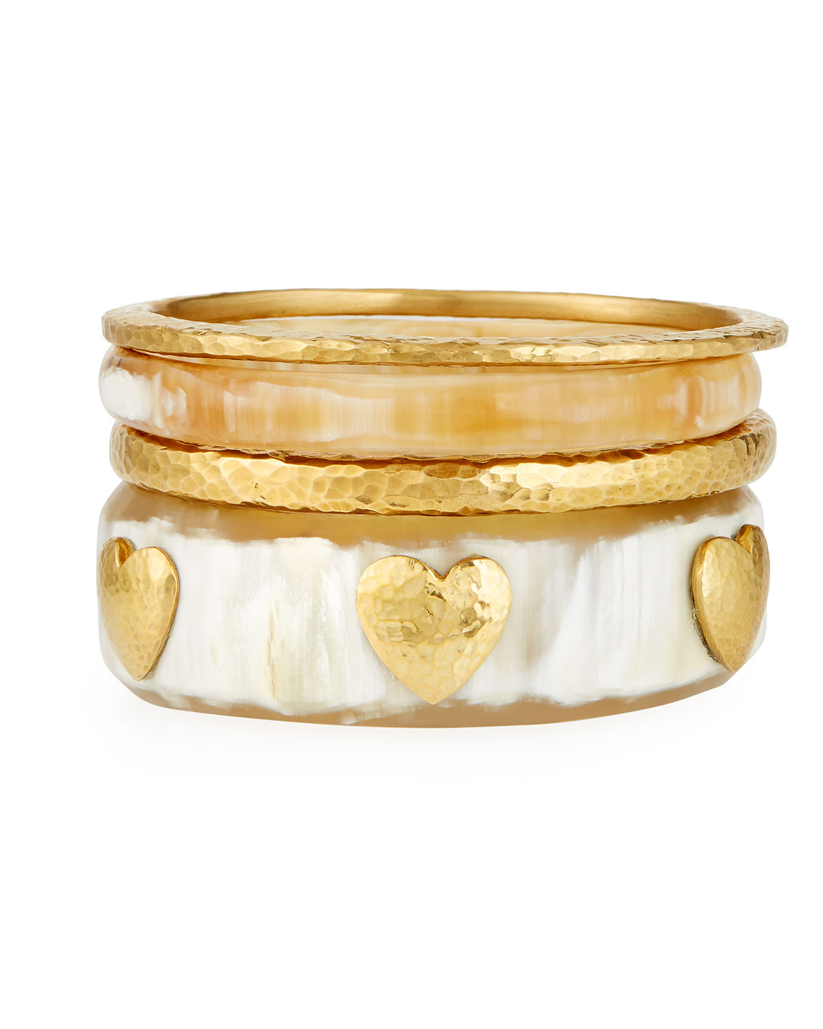 Ashley Pittman  BRONZE LIGHT HORN BANGLE SET