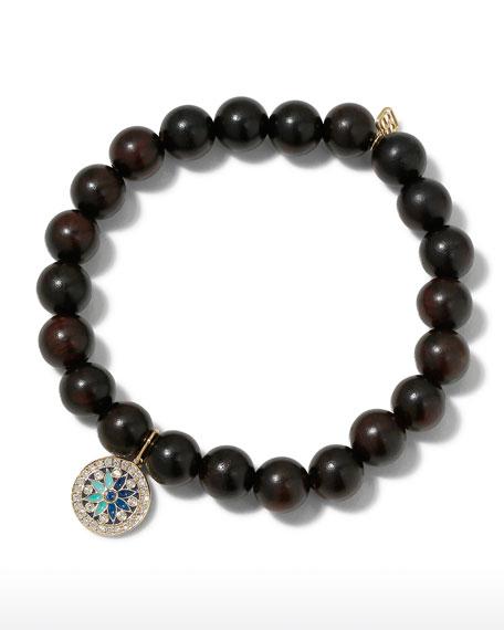 Sydney Evan 14k Diamond Kaleidoscope & Ebony Bracelet