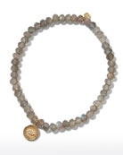 Sydney Evan 14k Diamond Eye Coin Labradorite Bracelet