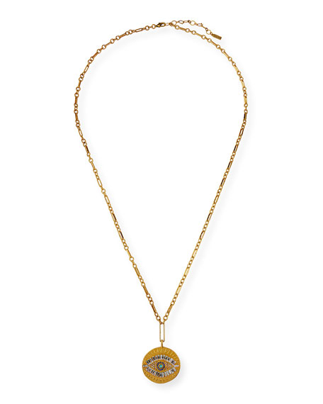 Sequin Evil Eye Large Talisman Necklace