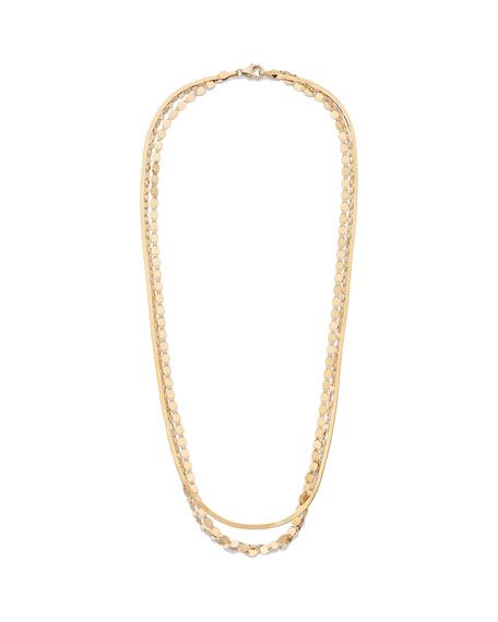 Lana 14k Triple-Strand Multi-Chain Necklace