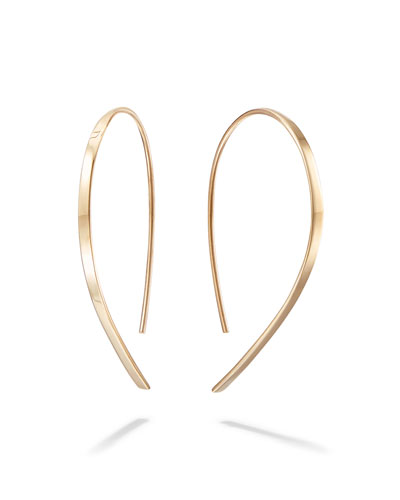 14k Mini Flat Hook Earrings