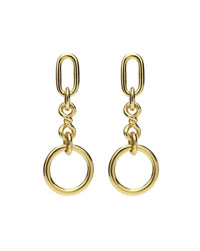 Chain-Link Drop Earrings
