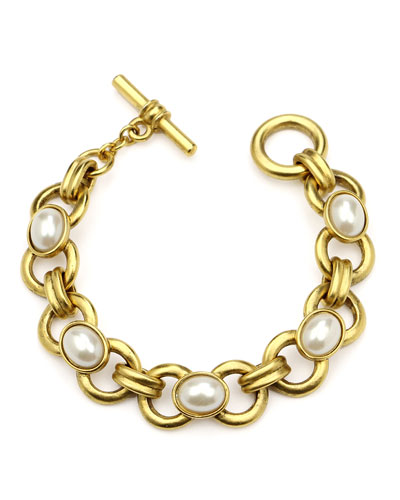 Pearly Chain-Link Bracelet