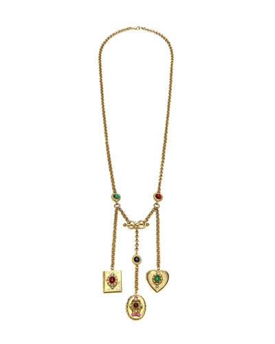 3-Charm Locket Necklace