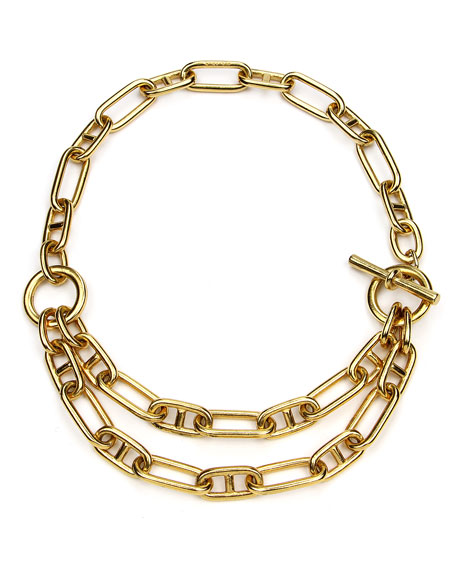 Ben-Amun Short Double-Chain Necklace