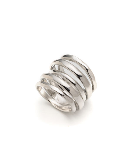 Alexis Bittar Layered Ring, Size 6-8