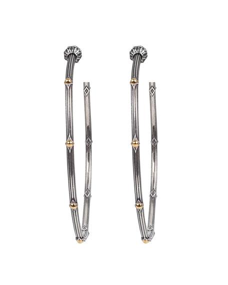 Konstantino Delos Two-Tone Large Hoop Earrings