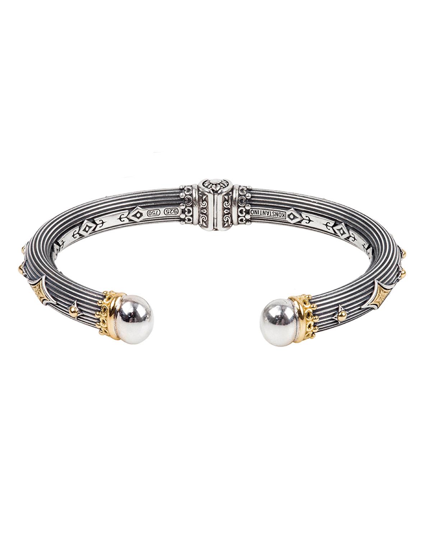Delos Two-Tone Cuff Bracelet