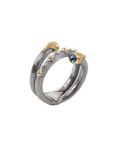 Delos London Blue Topaz Wrap Ring, Size 7