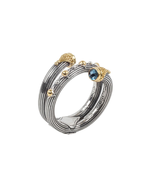 Delos London Blue Topaz Wrap Ring