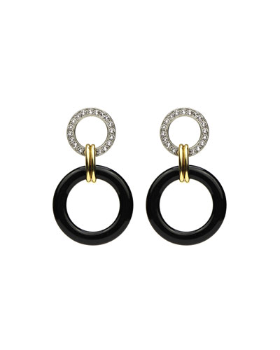 Crystal Door-Knock Resin Hoop Earrings