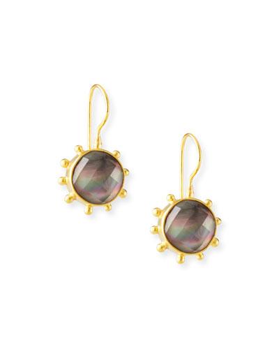 Mother-of-Pearl Doublet Pinwheel Earrings