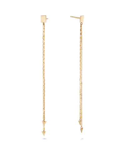 14k Layered Malibu Arrow Duster Earrings