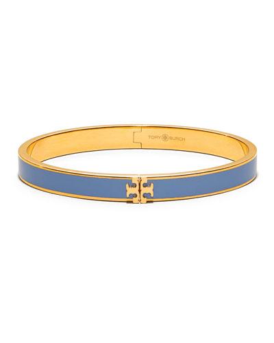 Kira Enamel Hinged Bracelet, Blue