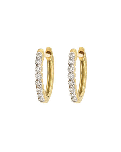 Delicate Provence Champagne Hoop Earrings, Gold