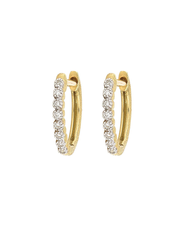 Delicate Provence Champagne Hoop Earrings