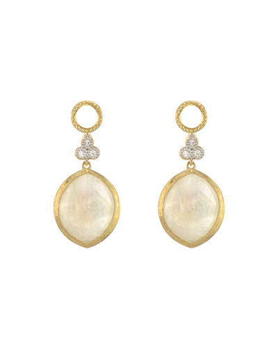 Provence 18k Moonstone Marquise Earring Charms