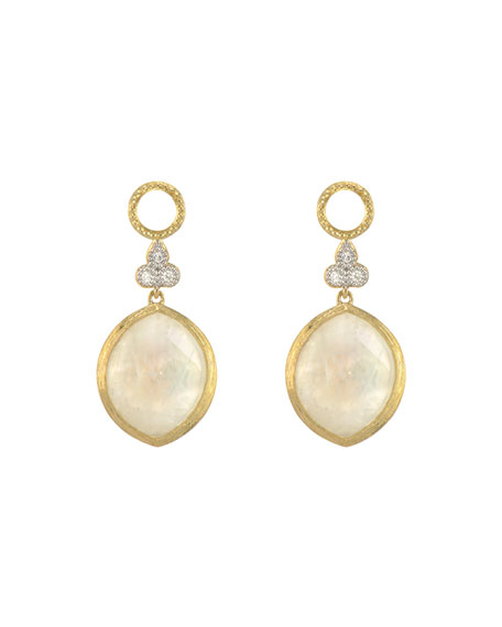 Jude Frances Provence 18k Moonstone Marquise Earring Charms