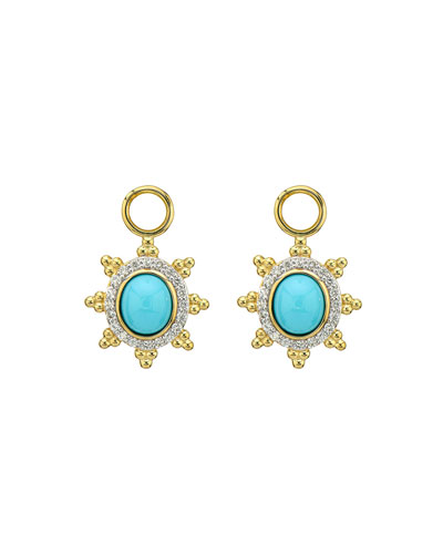 Provence Pave Halo Trio Sunburst Earring Charms