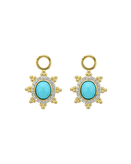 Jude Frances Provence Pave Halo Trio Sunburst Earring Charms