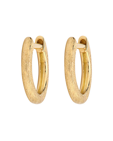 Jude Frances Plain Delicate Hoop Earrings, Gold