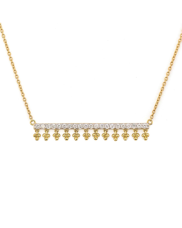 Provence Dancing Diamond Bar Pendant Necklace