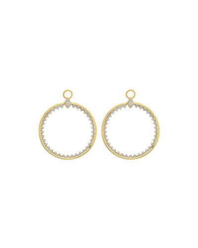 Lisse Medium Open Circle Half-Kite Earring Charms