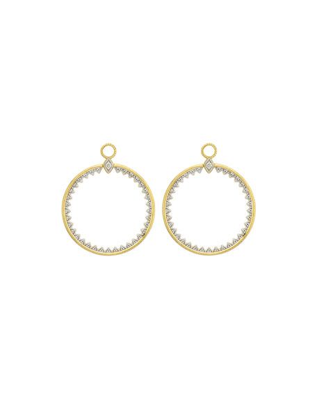Jude Frances Lisse Medium Open Circle Half-Kite Earring Charms