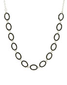 Freida Rothman Industrial Finish Pave Short Chain Necklace