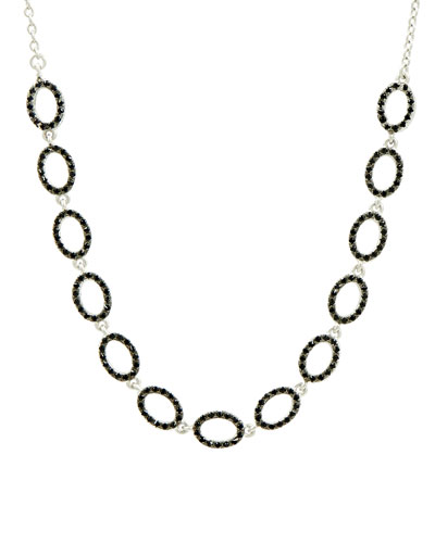 Industrial Finish Pave Short Chain Necklace