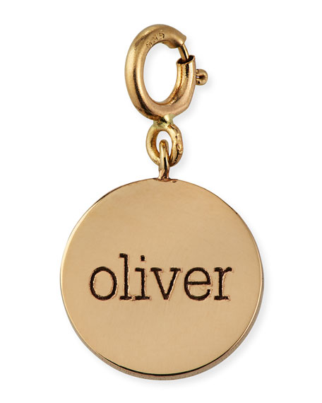 Zoe Chicco Personalized 14k Small 1-Word Disc Pendant