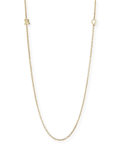 14k Personalized 2-Initial Necklace