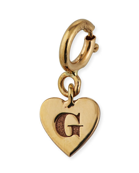 Zoe Chicco Personalized 14k Tiny Initial Heart Pendant