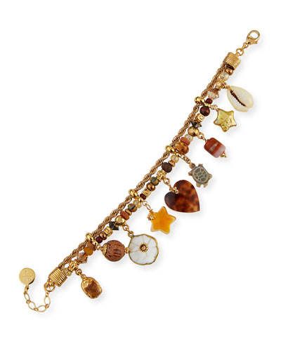 Sea Shell Multi-Charm Bracelet